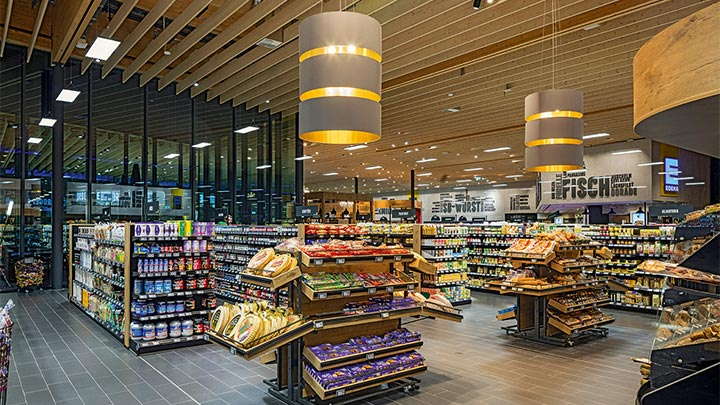 EDEKA supermarket lighting