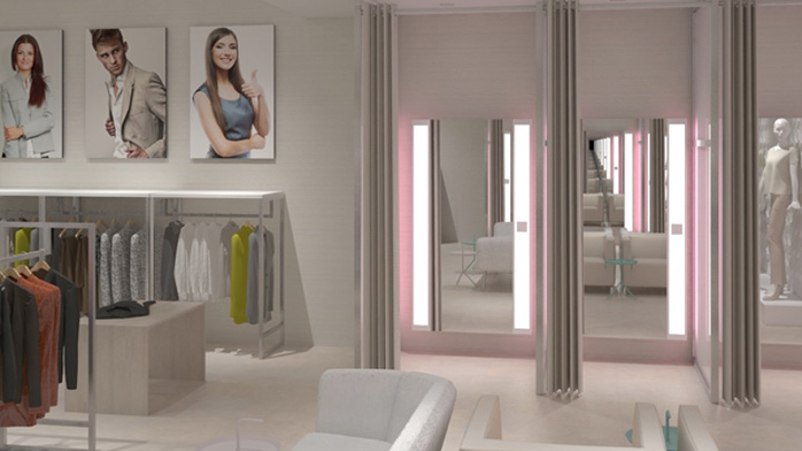 Customers' ability to control the fittingroom's lighting - dressing room lights