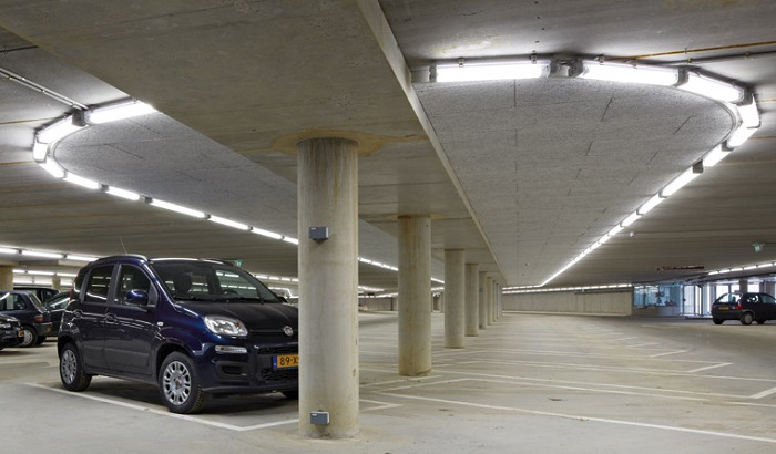 Illuminating indoor parking area in Airports