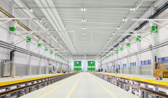 VR's maintenance hall