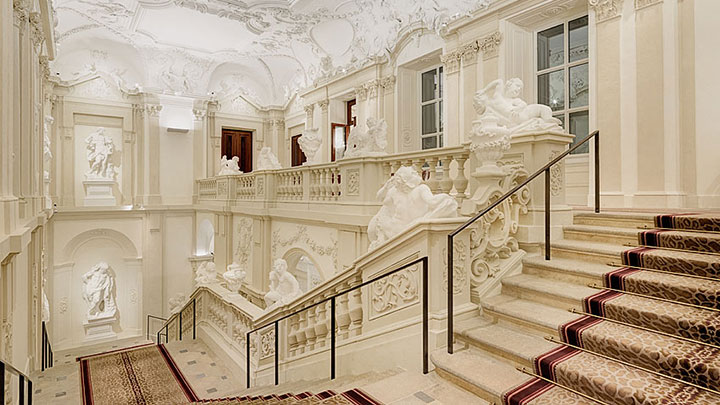 Top staircase Podpod lighting © Palais Liechtenstein GmbH  Jansenberger photografiedesign