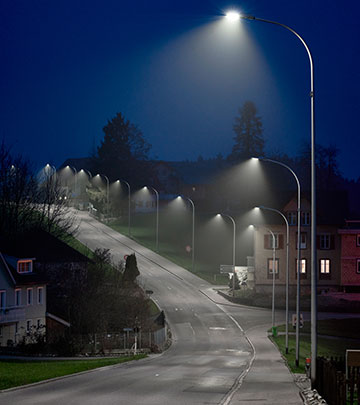 Street lighting with CityTouch in Gaiserwald, Switzerland.