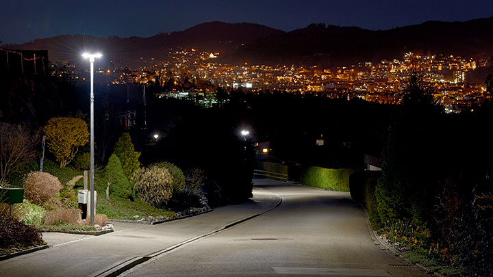 Street lighting with CityTouch in Gaiserwald, Switzerland