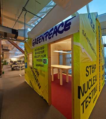 A 'Small house' meeting room at Greenpeace