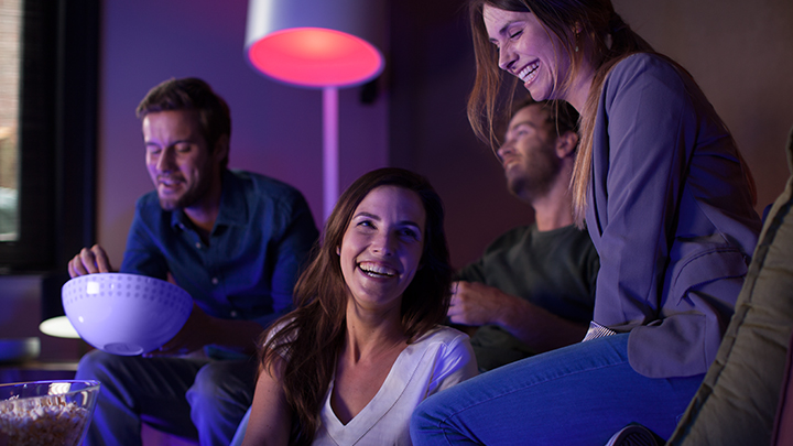 Philips Hue. Turn on living