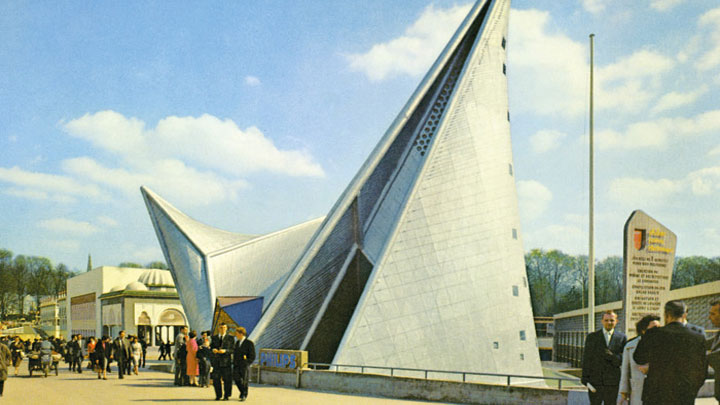 The Philips Pavilion at the Brussels Expo in 1958 was a collaboration with le Corbusier