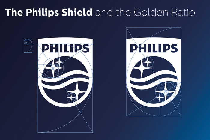 Design of the new Philips shield is based on the principles of the golden section
