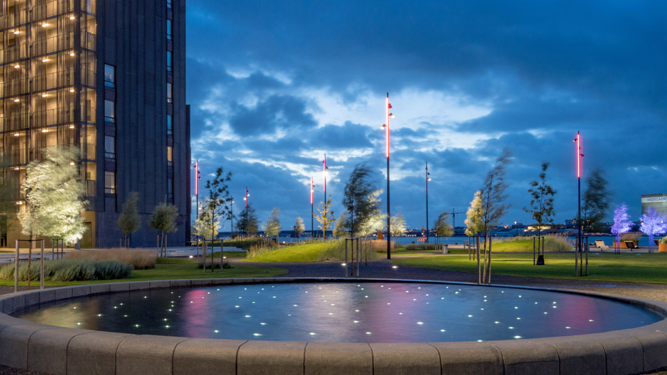 Aalborg, Denmark, The House of Music Area, Philips Lighting City People Light award