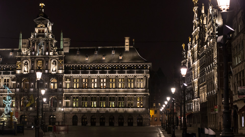 Antwerp, Belgium, grote markt, Philips Lighting City People Light award