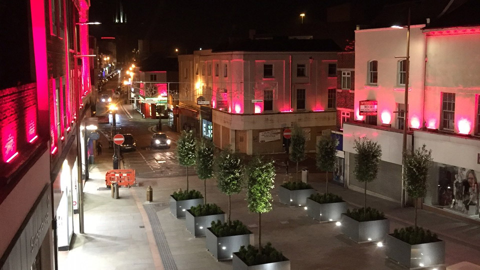 Dudley Town Centre, Philips Lighting City People Light award