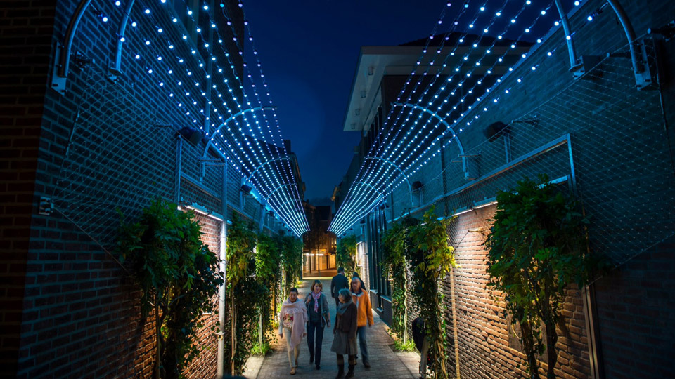 Veghel, The Netherlands, Behind Digital City Walls, Philips Lighting City People Light award
