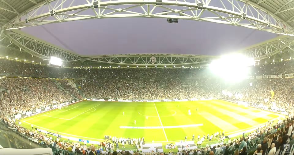 Allianz Stadium with the ArenaVision lighting system of Philips Lighting