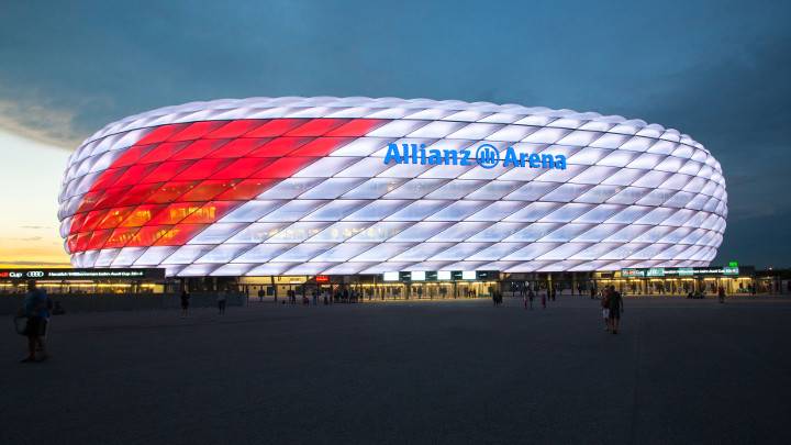 LED façade at Allianz Arena, Munich, Germany