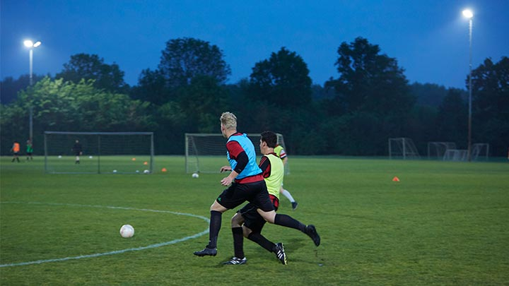 Sparta'25 football club with Philips Lighting luminaires