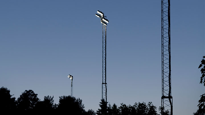 Vadmyra sports club with Philips Lighting luminaires