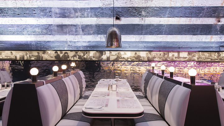 the diner, salone del mobile, pop up. Rockwell group, Philips lighting