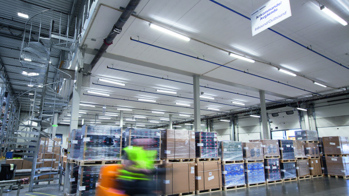 Pacific led lighitng installation at Prologis park in Sweden