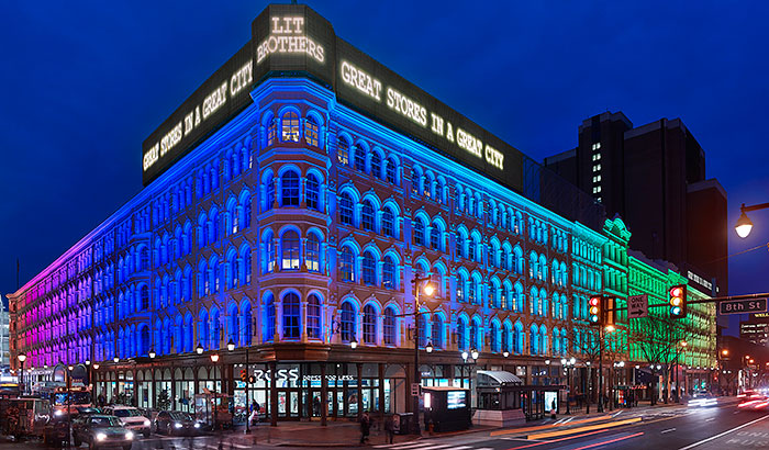 Philips Lighting and The Lighting Practice revitalize iconic Lit Brothers Building