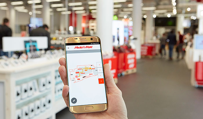 Guided by the light: MediaMarkt customers find products faster with indoor positioning from Philips Lighting