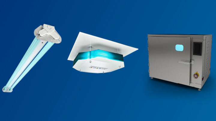 range of Philips UV-C lamps, luminaires, devices, control systems and services