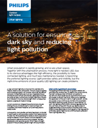 Reducing light pollution