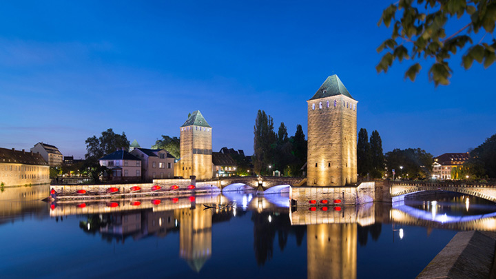 Illuminating the Grand Ile at Strasbourg by Citeos with Philips lighting products