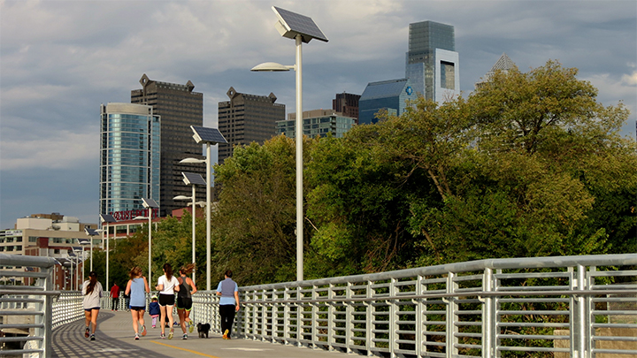 Flood Tolerant Solar Pathway Lights for Philadelphia Boardwalk