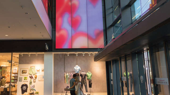Engage with customers using light, shopping mall lighting, Philips Lighting