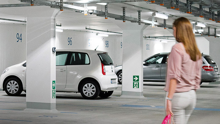 GreenParking keeps visitors safe while saving energy - lighting for hospitality