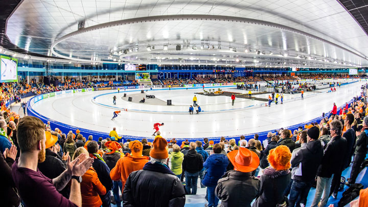 LED lighting at Thialf Ice skating arena, Heerenveen, The Netherlands